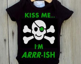 Kiss Me Bodysuit For Baby Boy