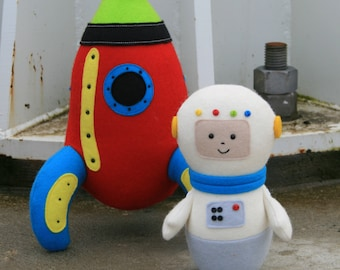 Starman: rocket sewing PDF, astronaut, felt rocket pdf, rocket softie, softie pdf pattern plush pdf pattern, stuffed toy pdf, rocket pattern