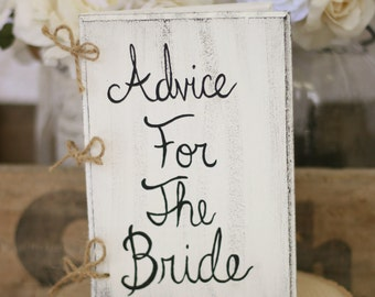 Bridal Shower Guest Book Advice For The Bride Book Rustic Chic Garden Wedding Bridal Shower Decor (MHD20061)
