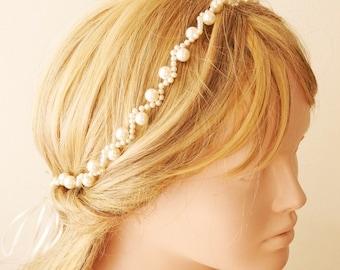Bridal Headband, Wedding Headband,  Wedding Trends Hair Hola,  Pearl Hairband
