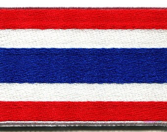 Flag of Thailand Thai applique iron-on patch sm.