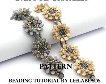 Daisy Pip Bracelet - PDF beading pattern - Instant Download