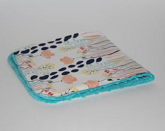 Minky Burp Cloth -Mutiple Patterns