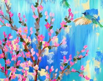 "blue art, blue paintings, aqua art, aqua paintings, medium sized, aqua painting, blue painting, blue and green painting, on canvas,30"" x 24"""