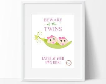 Beware of the Twins (Girls) Wall Print_0052WP