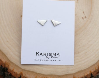 Triangle  Posts, Studs, Geometric, Sterling Silver, Earrings