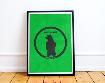 House Mormont Sigil - Here We Stand - Game of Thrones Poster Print (Available In Many Sizes)