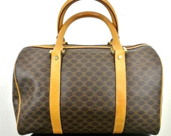 Vintage CELINE MACADAM Speedy Bag Women 90's Celine Paris Designer  Traveller Celine Italy Made Shoulder Bags