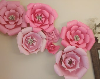 Large wall paper flowers