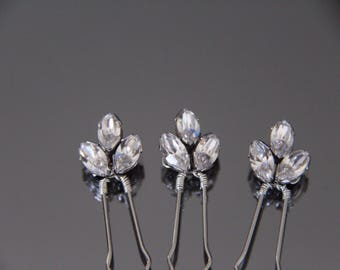 Swarovski Crystal Hair Pins. Bridal Hair Accessories. Wedding Hair Accessories. Diamanté Hair Pins.