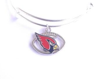 Arizona Cardinals football team charm bangle bracelet