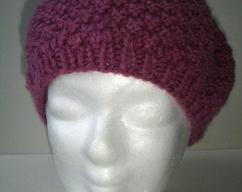 Custom Hermione inspired Purple Knit Hat