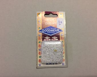 Package of white seed beads