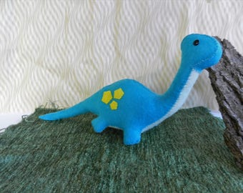 Felt Dinosaur Softie Plushie Brontosaurus by TypingWithTea