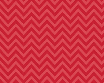 One Yard of Chevron in Red from The Sweetest Thing by Zoe Pearn