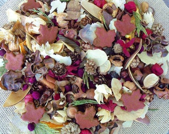 North Woods Country Potpourri, Maple Leaves, Botanicals,Saltdough, Rustic, Fall Potpourri, Winter Potpourri, Refresher Oil Included