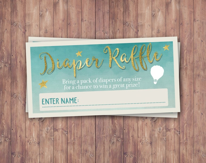 Diaper Raffle, Oh The Places You Will Go Baby Shower Invitation • Dr. Seuss Baby Shower Invitation • Baby Shower • Oh The Places You'll Go