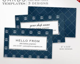 Business Card Template - Nautical Business Card Design Template - DIY Printable Business Card Template Editable Design BCUS AAC