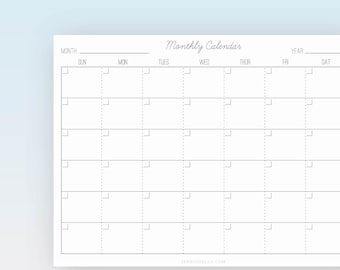 Monthly Calendar |  Printable Page