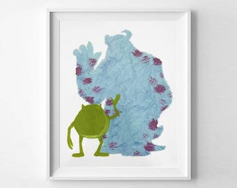 Hand Painted Canvas Art - Monsters Inc
