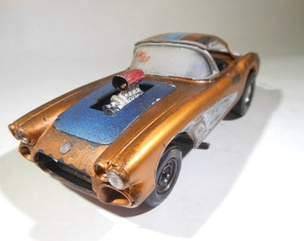 Corvette,VetteCar,chevyCorvette,124Scale,ScaleModel,Rat rod,JunkYard,BarnFind,PlasticToyCar