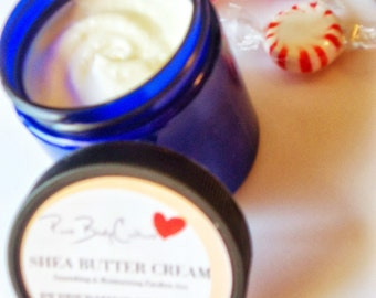 Peppermint Prince Shea Butter Whipped Cream 100% All Natural Body Lotion, Paraben Free 4.0 oz.