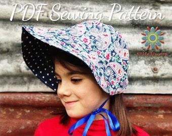 BONNET Sewing Pattern, Hat PDF Pattern, Girls Hat Pattern, Womens Hat Pattern, Sew Vintage Bonnet, Fur Brim Hat Pattern, Vintage Hat Pattern