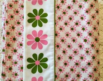 Lady Pepperell Pink Daisy - Full Size - NIP NOS Full Flat - Kittery Pattern - 1970s