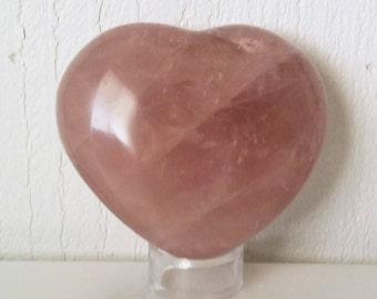 Dark Rose Quartz Crystal Heart Pink Quartz Heart Shaped Healing Crystals | Healing Stones | Rocks and Minerals 1172
