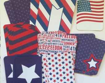 Americana - Project Life Cards, Destash, Fourth of July, America, Grab Bag