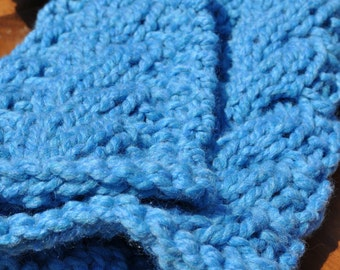 Chunky Baby Blanket Photography Prop - Cable Knit Blanket Photo Prop - Newborn Blanket Wrap - Cable Cocoon - Boy Basket Blanket - Sky Blue