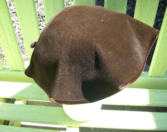 Dolly Madison Chocolate Brown Hat with matching Hatpin