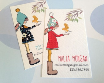 Personalized Business Cards, Calling Cards - Set of  50