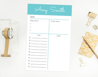 Personalized Day Planner 5.5 x 8.5 Notepad