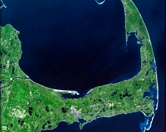 Poster, Many Sizes Available; Cape Cod Mass Landsat 7 P2