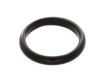 Natural Black Onyx Gemstone Plain Band Ring