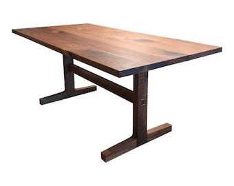 Custom Trestle Table in Black Walnut