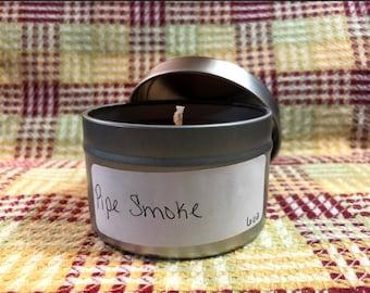 Handmade Candle: Pipe Smoke