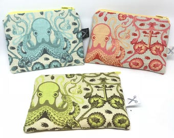 Mini zipper pouch Octo Garden