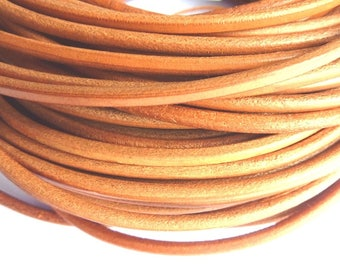 1 m leather cord 5 mm natural PR02800