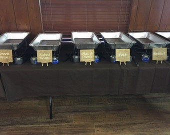 Wood Buffet Labels/ Wood Buffet Signs set of 5
