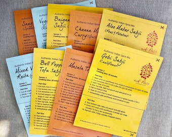 Variety Pack: 9 Indian Spice Blend Packets