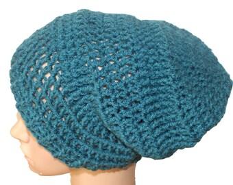Skull Caps Beanies, Womens Crochet Hat, Teal Slouch Hat, Beanie Hat, Mens Slouch, Dreadlocks Hat, Mens Toque, Hats Caps, Winter Hats