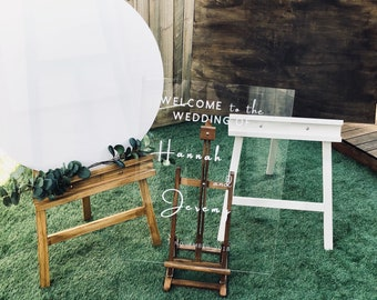 Easel & Sign Hire. Welcome Signs | Find your seat | Wishing Well | Cards and Gifts | Easels | Stands