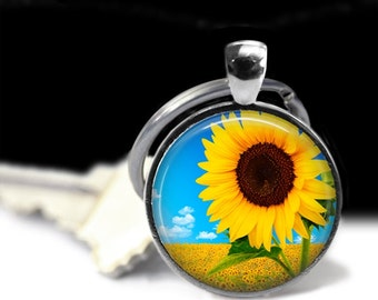 Sunfllower Jewelry Sunflower Pendant Wearable Rose Pendant Charm Sunflower Keychain