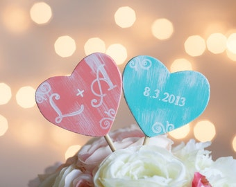 Wedding Cake Toppers Personalized With Initials And Date