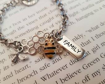 Busy Queen Bee bracelet.
