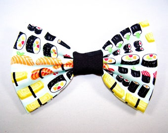SUSHI / Handmade Fabric Hair Bow / Big Bow / Preppy Sushi Accessory Hair Bow / Cool Hair Bow / Preppy Sushi Hair Bow / Sushi Lover Gift