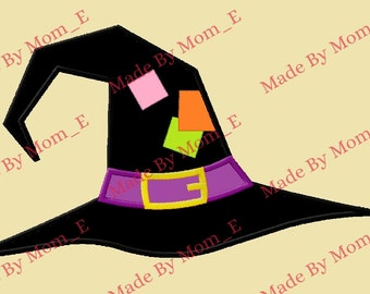 Patchy Witch Hat Applique