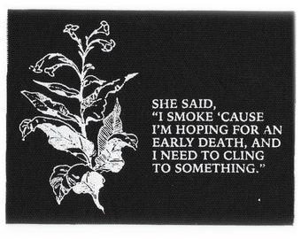 Smoke // Screen Printed Patch